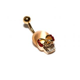 Gold Skull Navel Bananabell